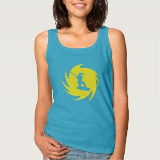 Camisa das senhoras do redemoinho do amarelo de