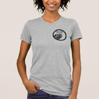Camisa das senhoras do sistema de alimentação de camiseta