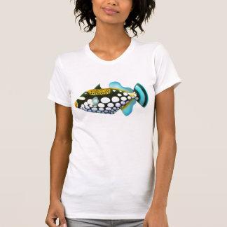 Camisa das senhoras do Triggerfish do palhaço