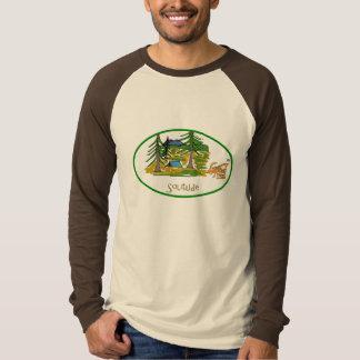 Camisa de acampamento da solidão