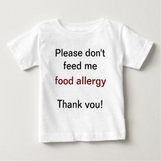 Camisa de advertência da alergia de comida