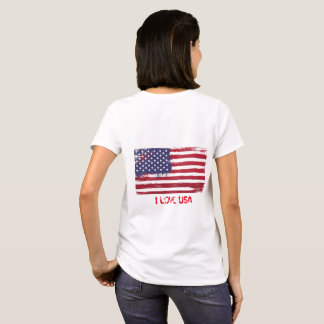 Camisa de algodão das mulheres do t-shirt da