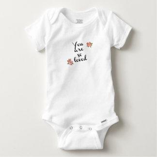Camisa de algodão de Gerber do bebê
