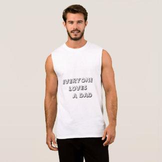 camisa de algodão sem mangas do dia dos pais