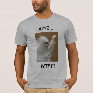 Camisa de Ayye WTF do meme do gato persa