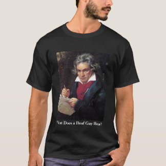 Camisa de Beethoven dos homens, que uma cara surda