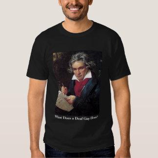 Camisa de Beethoven dos homens, que uma cara surda Tshirt