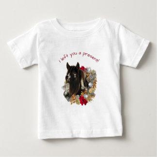 Camiseta Para Bebê Camisa de Bels de tinir do Feliz Natal de Brayley