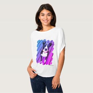Camisa de border collie do arco-íris