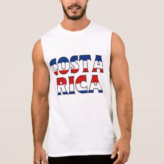 Camisa de Costa Rica Camisa Sem Mangas