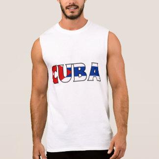 Camisa de Cuba Camisas Sem Manga