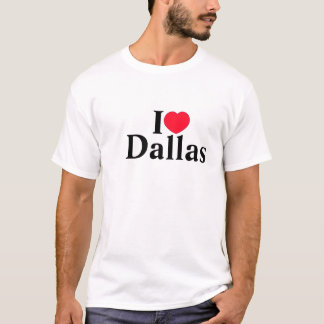 Camisa de Dallas do amor dos homens