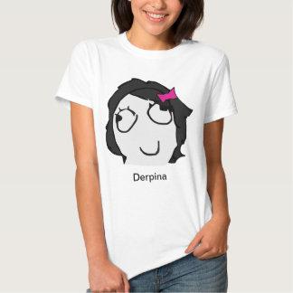Camisa de Derpina Meme (preto) Camisetas