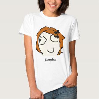Camisa de Derpina Meme (vermelho) Camisetas