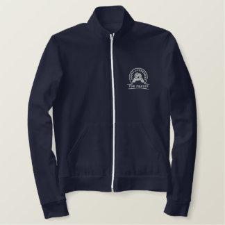 Camisa de Emboidered/jaqueta (cores escuras) Agasalho Jogger De Lã Bordado