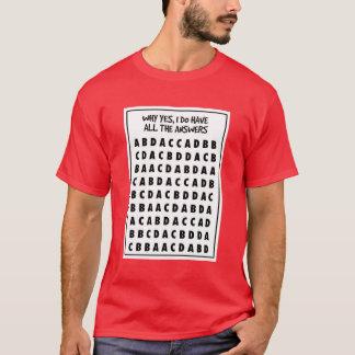 Camisa de escolha múltipla da fraude