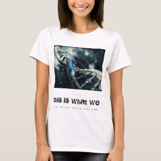 camisa de fascínio do ADN t