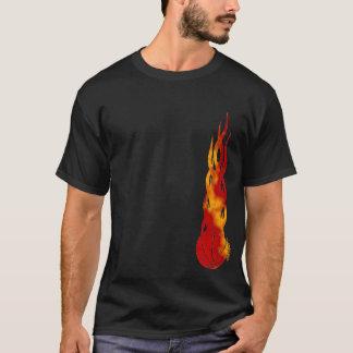 Camisa de Fireballer t da bola da cesta