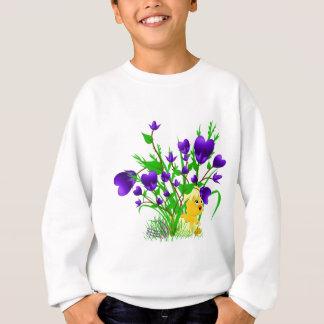 Camisa de florescência do pintinho da páscoa dos