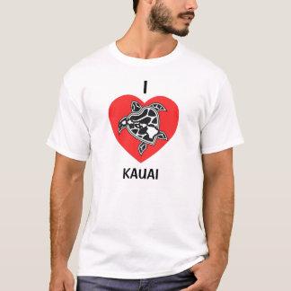 Camisa de Havaí do amor - ilha de Kauai