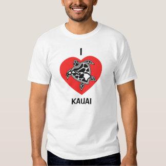 Camisa de Havaí do amor - ilha de Kauai Camisetas