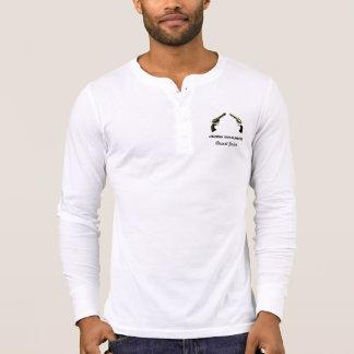 Camisa de Henley com logotipo do clube