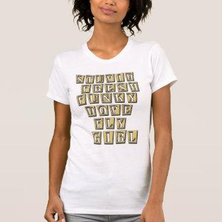 Camisa de HIP HOP t da menina da mosca Camiseta