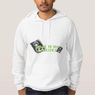 Camisa de Hip Hop T Moleton Com Capuz
