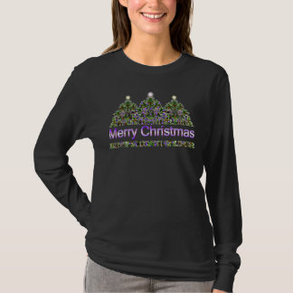 Camisa de incandescência das árvores de Natal