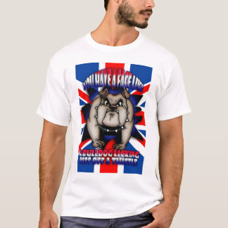 Camisa de insulto de T, com cão do touro, união