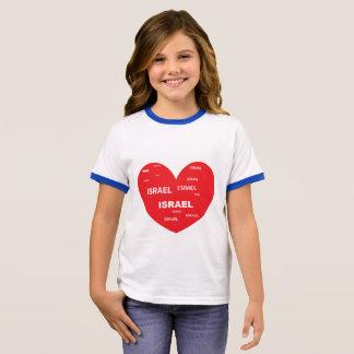 Camisa de Israel do coração do amor