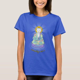 Camisa de Lotus do gato de Buddha do Meow da