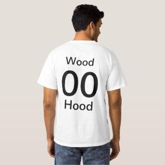 Camisa de madeira média da capa dos homens