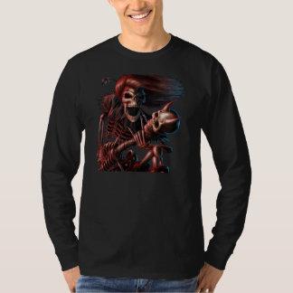 Camisa de manga comprida Caveira Guitarrista