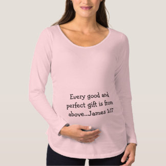 Camisa de maternidade da escritura