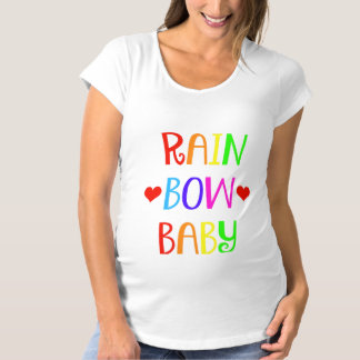 Camisa de maternidade do bebê do arco-íris com