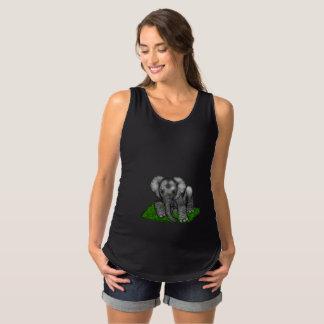 Camisa de maternidade sem mangas do elefante do