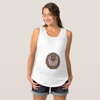 Camisa de maternidade sem mangas do ouriço do bebê