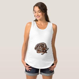 Camisa de maternidade sem mangas dos cervos do