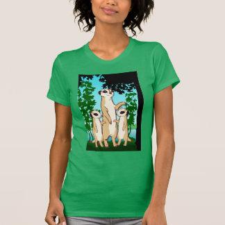 Camisa de Meerkat T, caminhada da família