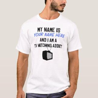 Camisa de observação do viciado da tevê do costume