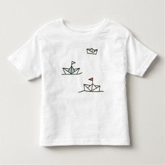 Camisa de papel dos barcos t