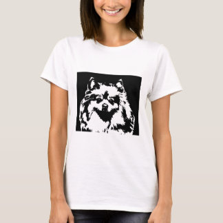 Camisa de Pomeranian - t-shirt da boneca das