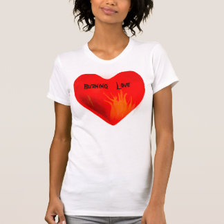Camisa de queimadura de Love_