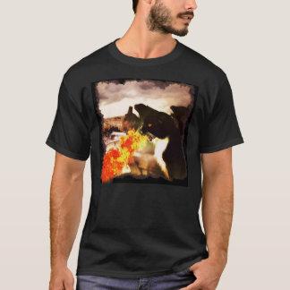 Camisa de respiração do gato do dragão do fogo
