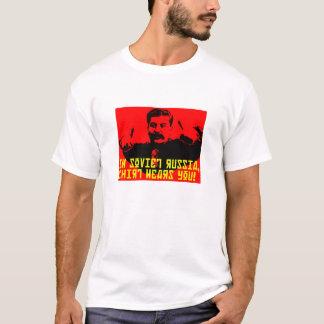 Camisa de Rússia soviética Yakov Smirnoff