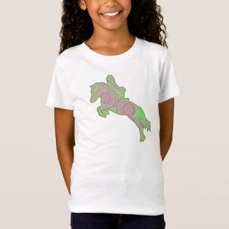 Camisa de salto cor-de-rosa e verde do pônei de