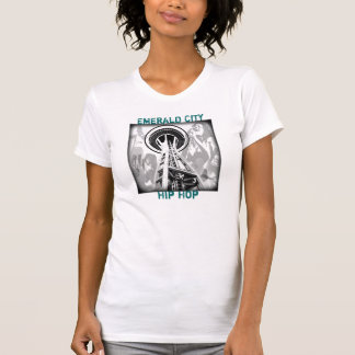 camisa de seattle, cidade esmeralda, Hip Hop