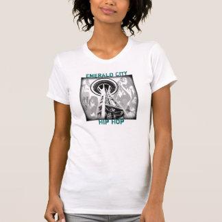 camisa de seattle, cidade esmeralda, Hip Hop T-shirt