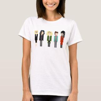 Camisa de Sestras do pixel - 5 horizontais - preto
